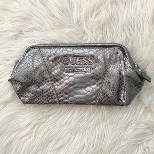 Guess Faux Python Clutch Bag